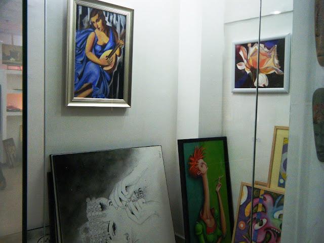 Préparatifs de l'expo de l'atelier artémisia 14