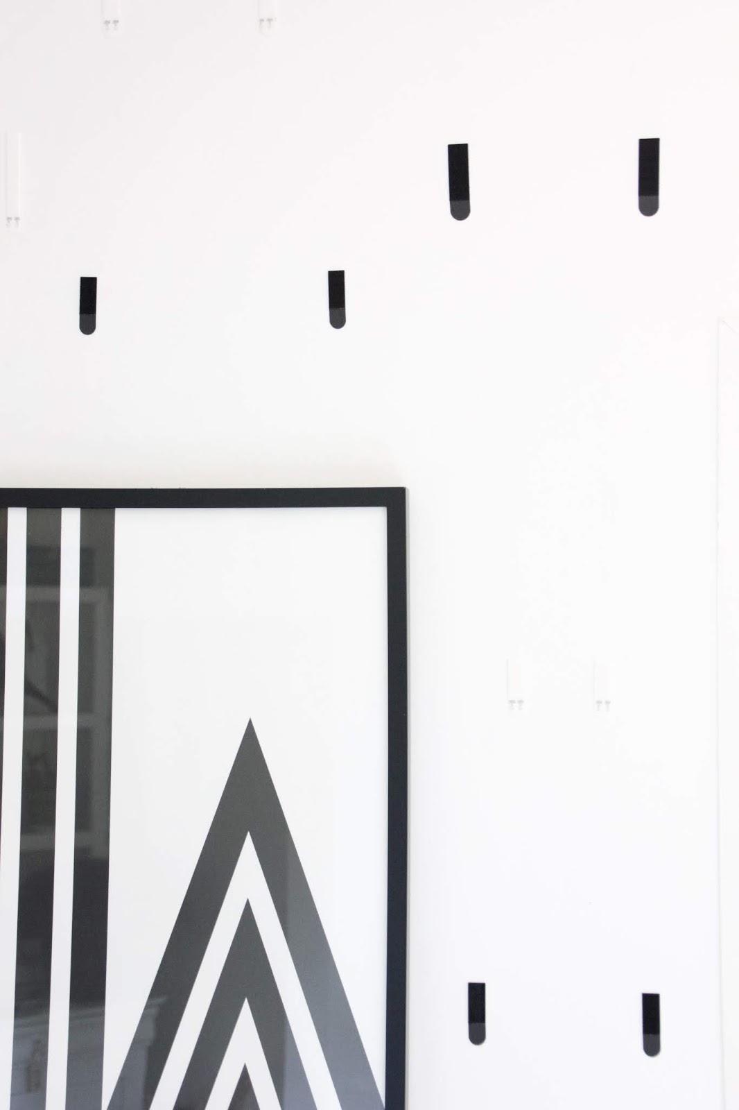 Accrocher Tableau Mur Beton Sans Percer regardsetmaisons: diy mon mur de cadres sans trou ni clou