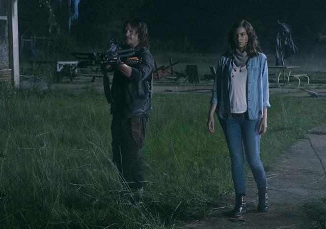 Daryl Dixon (Norman Reedus) e Maggie Greene (Lauren Cohan) nell'episodio 3