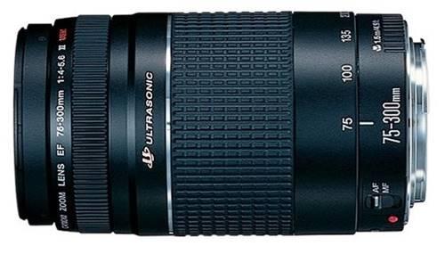 Lente zoom telefoto EF 75-300 mm f/4-5.6 para câmera DSLR da Canon