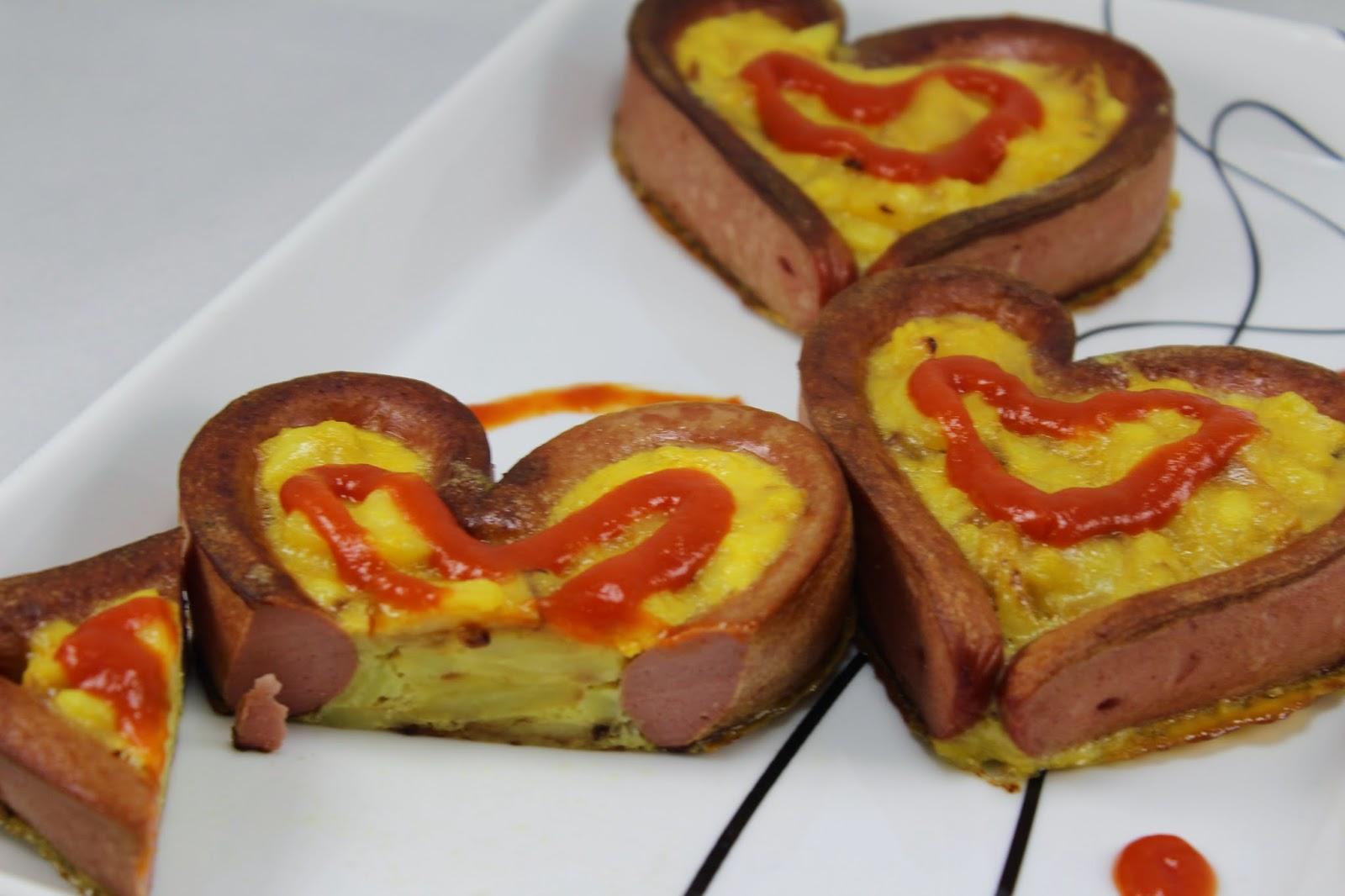 Corazones de tortilla con Thermomix