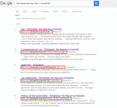 Wiki Dead Link Search