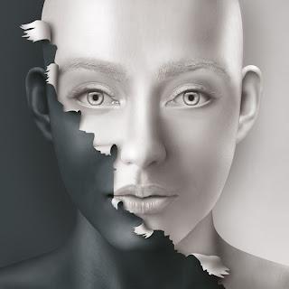 fotomontaje o modelo 3d rostro de mujer