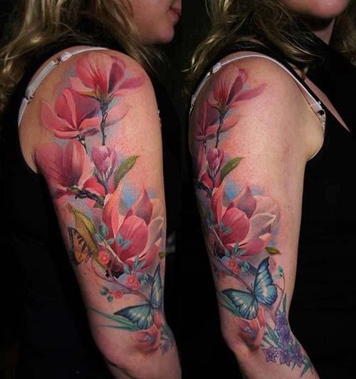 kadın üst kol dövme modelleri woman upper arm tattoos 7