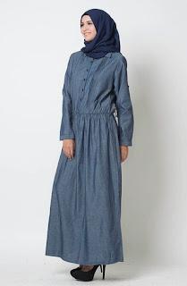 Gamis Jeans Casual Muslim Desain Terbaik Edisi Terbaru