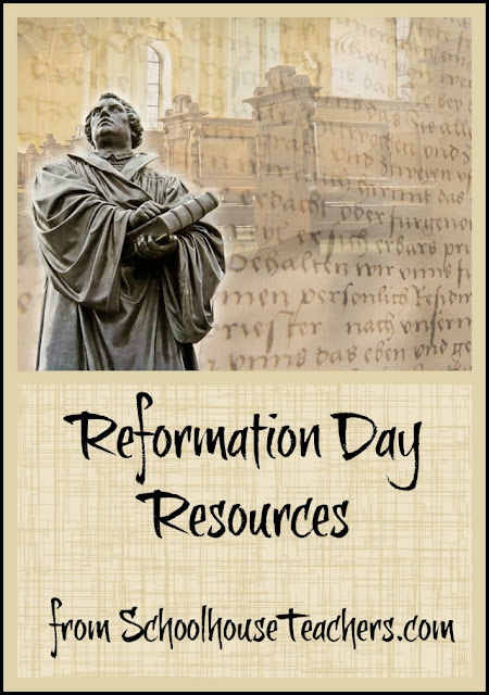 Reformation Day Resources from SchoolhouseTeachers.com on Homeschool Coffee Break @ kympossibleblog.blogspot.com