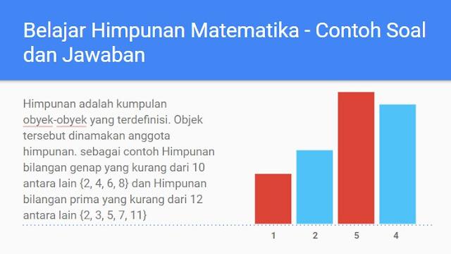 Rumus Himpunan Matematika - Macam Macam Himpunan dan Contoh Soal Himpunan