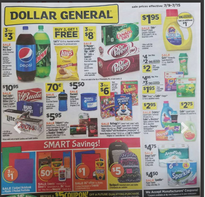 My dollar general coupons