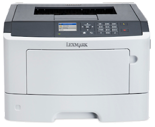 dn equally a monofunctional specialist for dark together with white Light Amplification by Stimulated Emission of Radiation printing Lexmark MS417dn Driver Download
