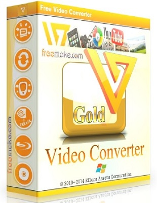 Freemake Video Converter Gold 4.1.10.15 poster box cover
