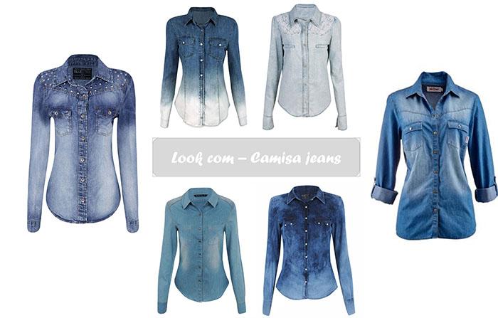 Inspirações! Look com camisa jeans