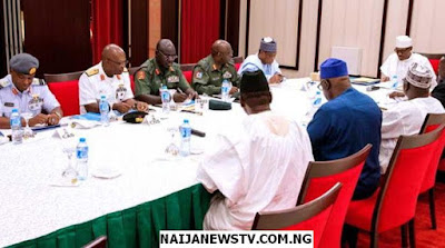 PMB Holds Close Door Meeting with Nigerian Security Chiefs