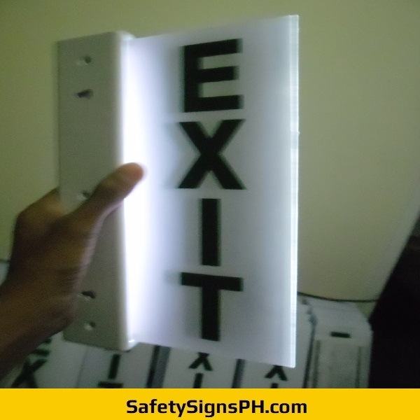 LED Lighted Acrylic Exit Sign