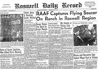 Roswell local paper alien crash