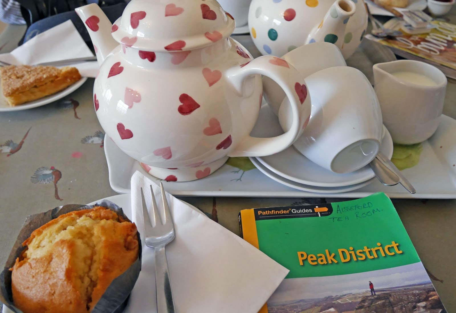 Tea and cake at the Aisseford Tea Room, Ashford-in-the-water (Peak District National Park)