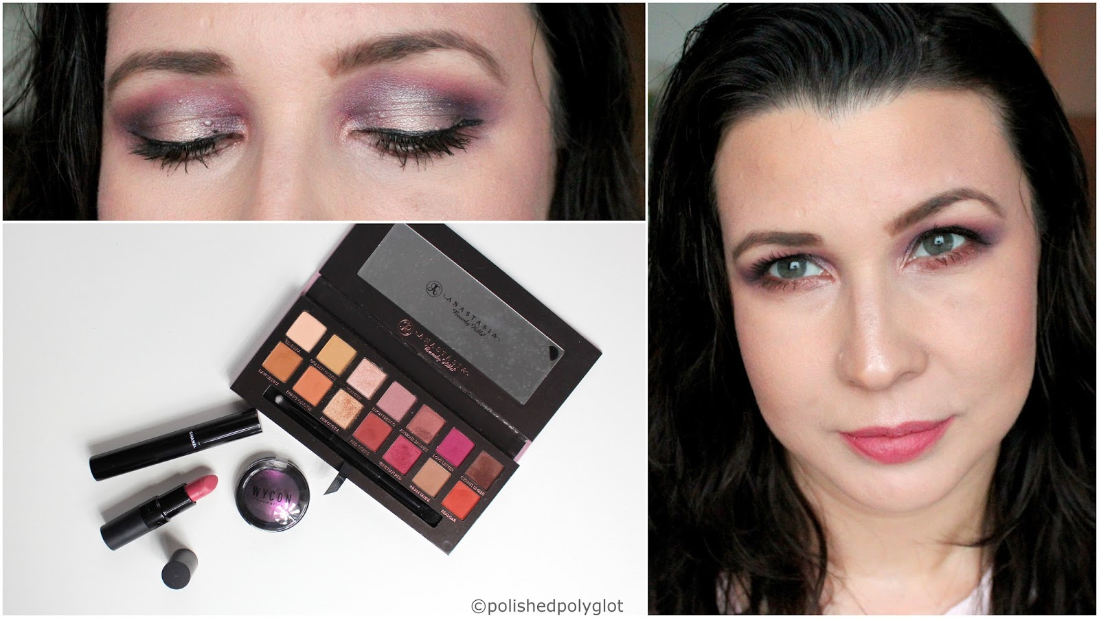 Makeup Plum Champagne Wet Hair Monday Shadow Challenge