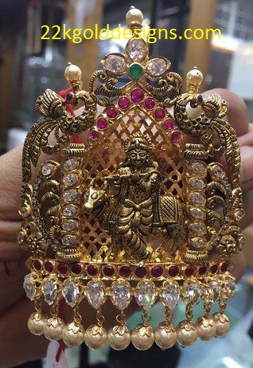 Nakshi Sri Krishna Pendant