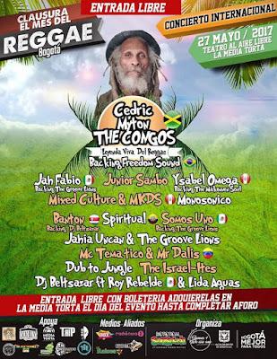 clausura del mes de reggae La media torta Bogota