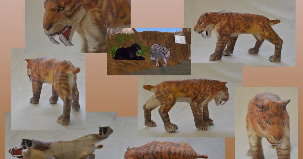 Smilodon Face By Pyroraptor42 On Deviantart: Ninjatoes' Papercraft Weblog: Smilodon Paper-toothed Tiger