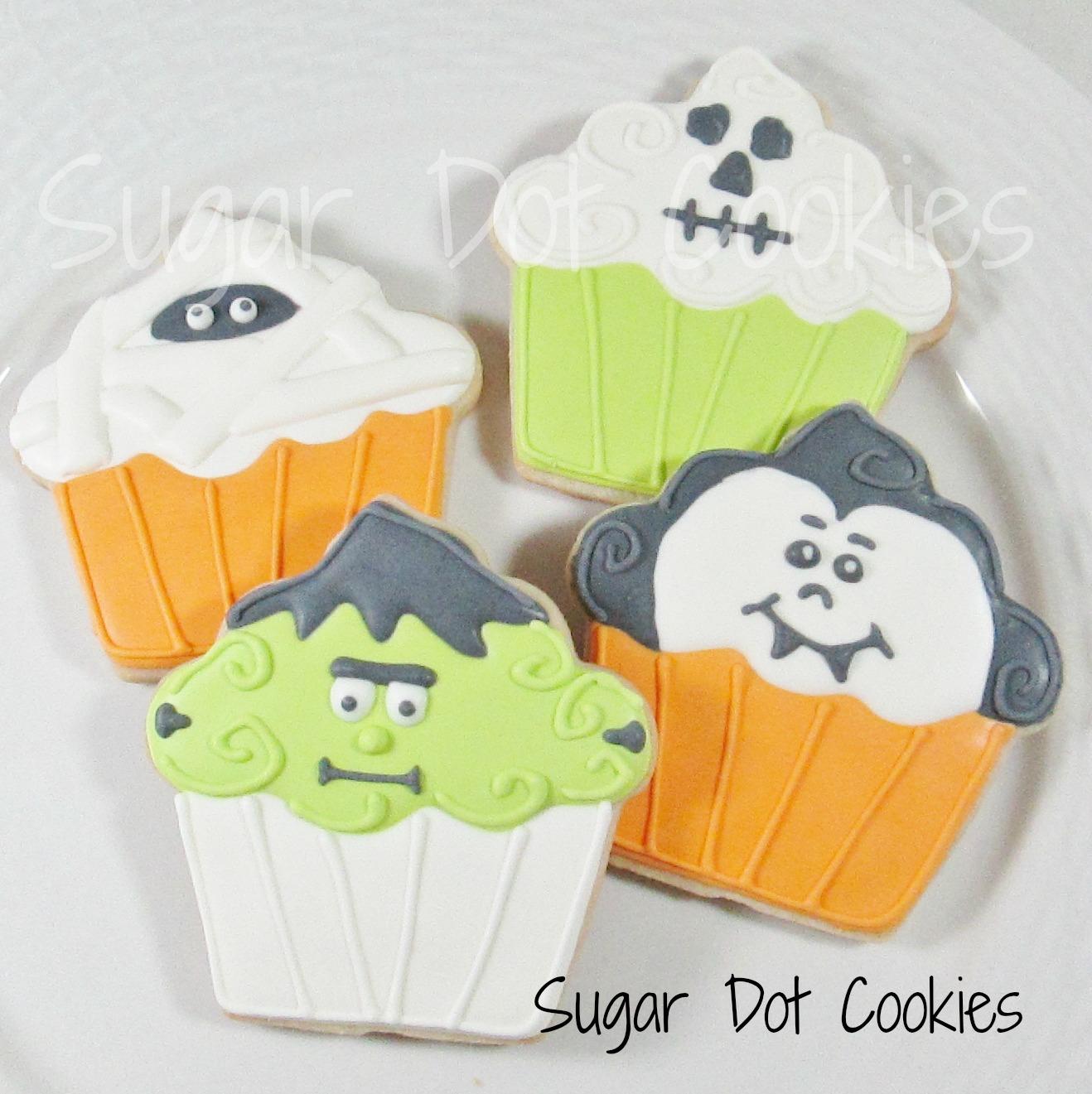 halloween sugar cookies with royal icing
