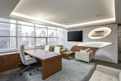 Meja direksi,Interior ruang kerja direktur