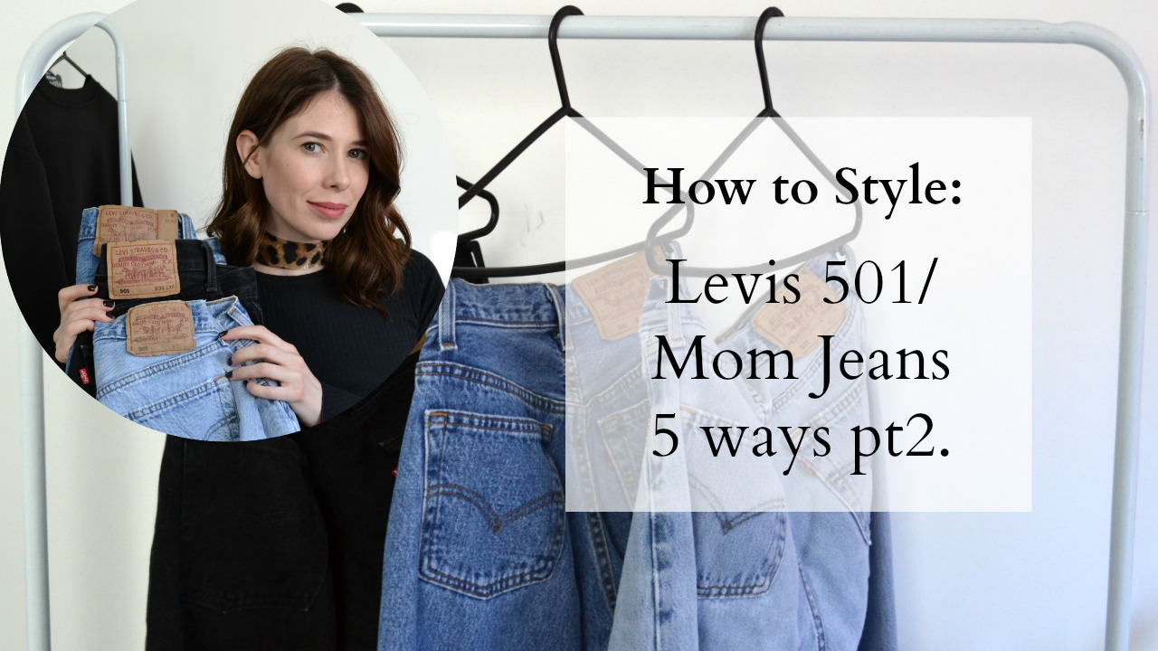 How to style Levis 501 Jeans 5 ways ft Vintage Levis, Topshop, Zara, Vintage, Office shoes
