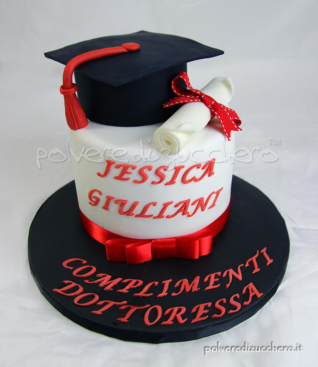 torta decorata cake design polvere di zucchero torta laurea pasta di zucchero degree