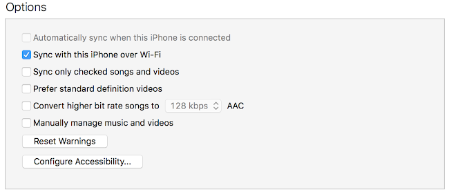 Enable iTunes WiFi Sync