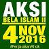 inilah daftar dukungan AKSI BELA ISLAM 4 NOVEMBER 2016 GNFP-MUI