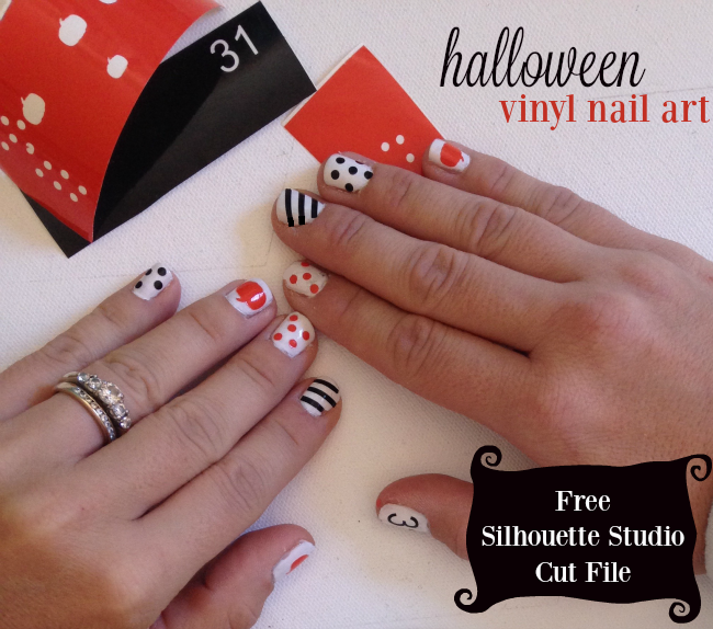 Halloween Nail Art Set Free Silhouette Studio Cut Files