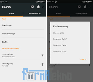 4 Cara install CWM / TWRP Recovery Semua Android Tanpa PC