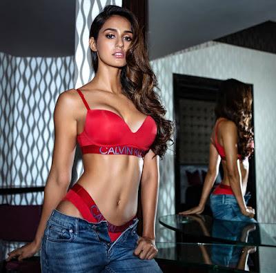 Disha Patani Hot Shoot In Calvin Klein Inners