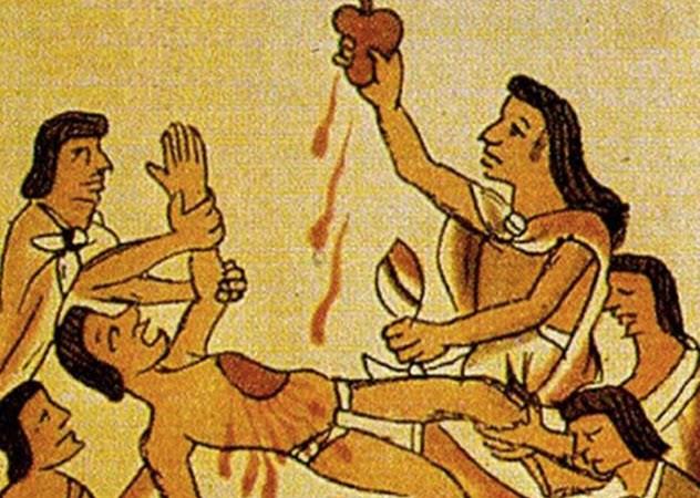 pengorbanan jiwa manusia untuk dewa suku aztec