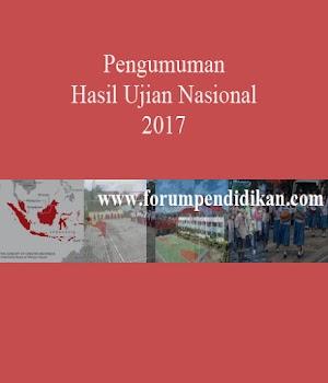 Pengumuman Ujian Nasional Tahun 2017