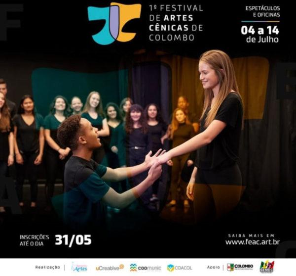Inscrições abertas para o Festival de Artes Cênicas de Colombo