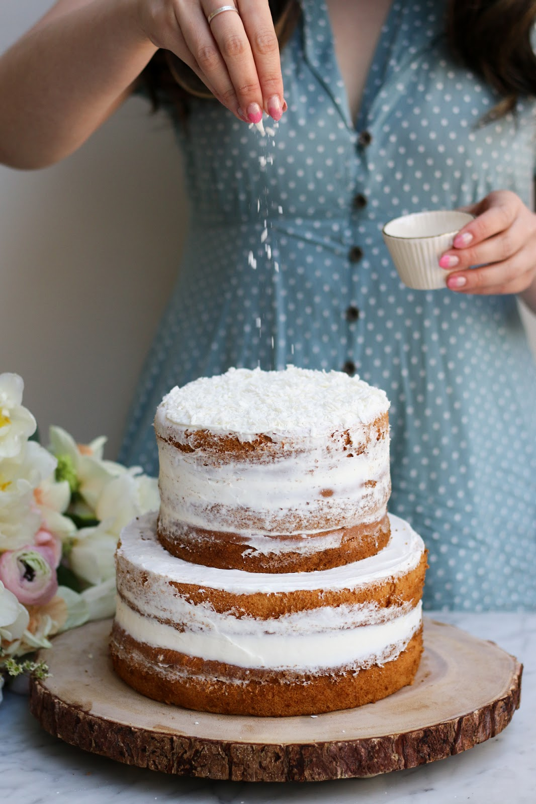 Coconut Earl Grey Lavender Cake With White Chocolate