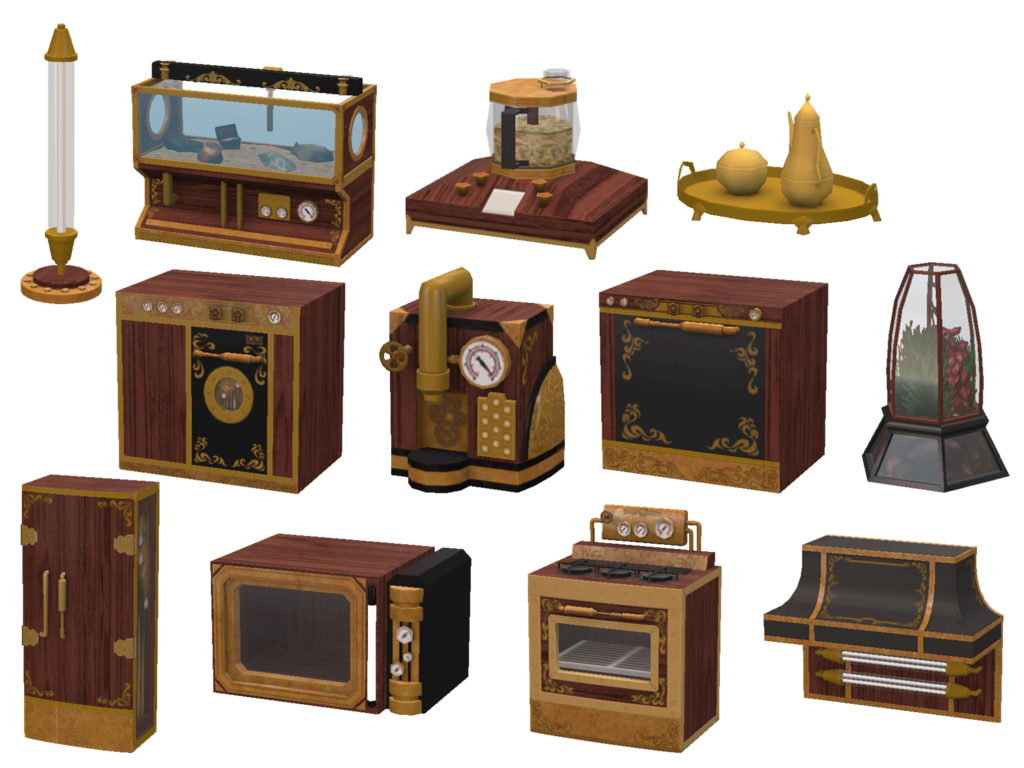 Sims 4 cc 39 s the best steampunk kitchen by sims 4 designs for Kitchen designs steampunk