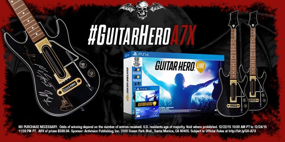 avenged sevenfold news win an exclusive guitar hero live controller signed by avenged sevenfold. Black Bedroom Furniture Sets. Home Design Ideas