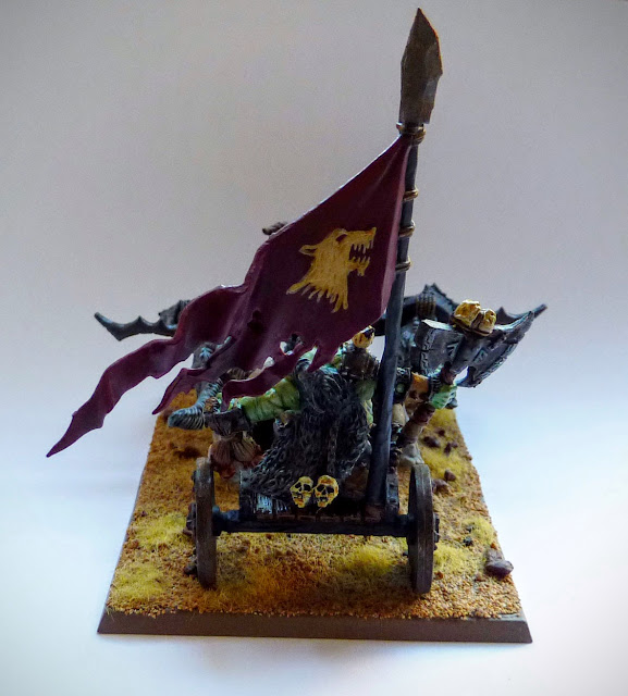 Grom the Paunch conversion for Orcs & Goblins, Warhammer Fantasy Battle from Avatars of War Goblin King.