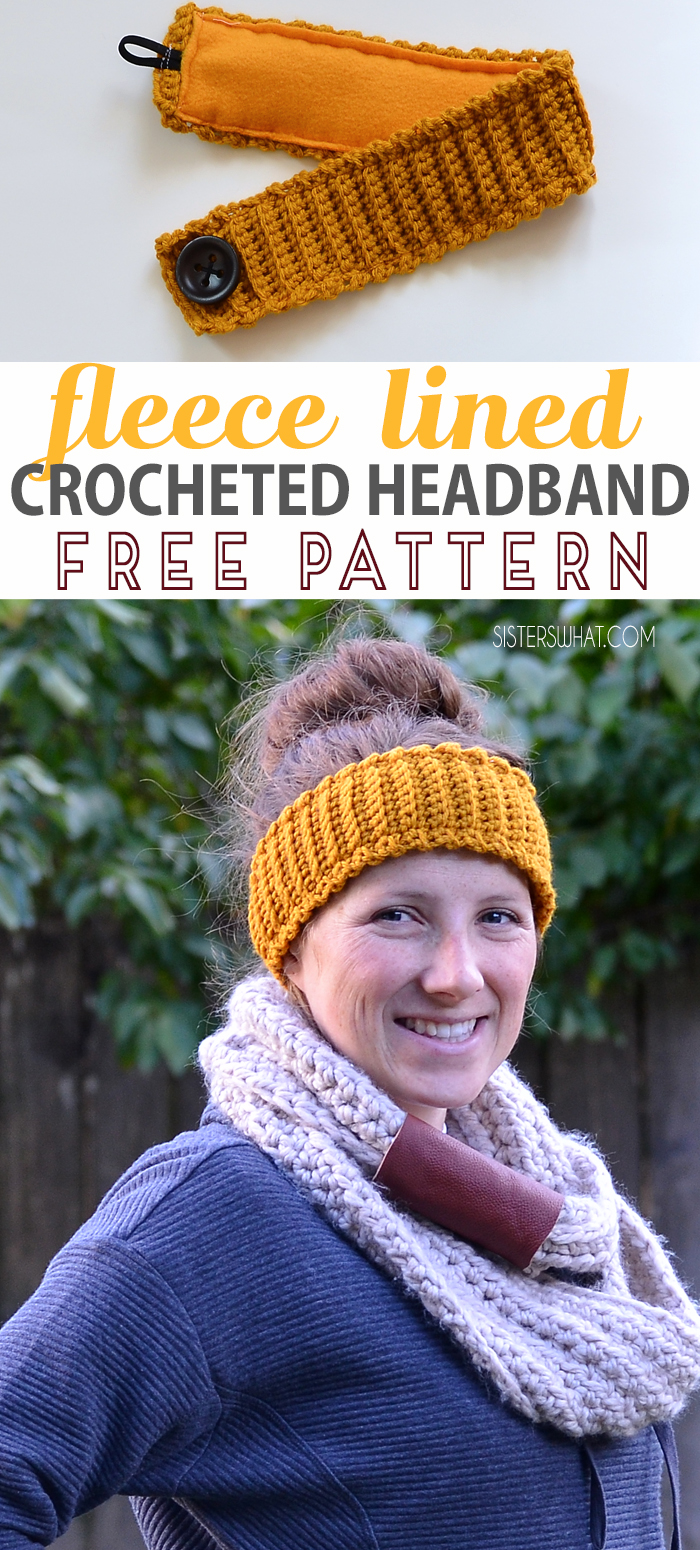 fleece lined headband crocheted headband free pattern