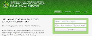 SIMPATIKA Situs Pengganti Padamu Negeri bagi PTK Kemenag http://kemenag.siap.id/