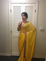 Rashi khanna looking beautiful in yellow saree-cover-photo