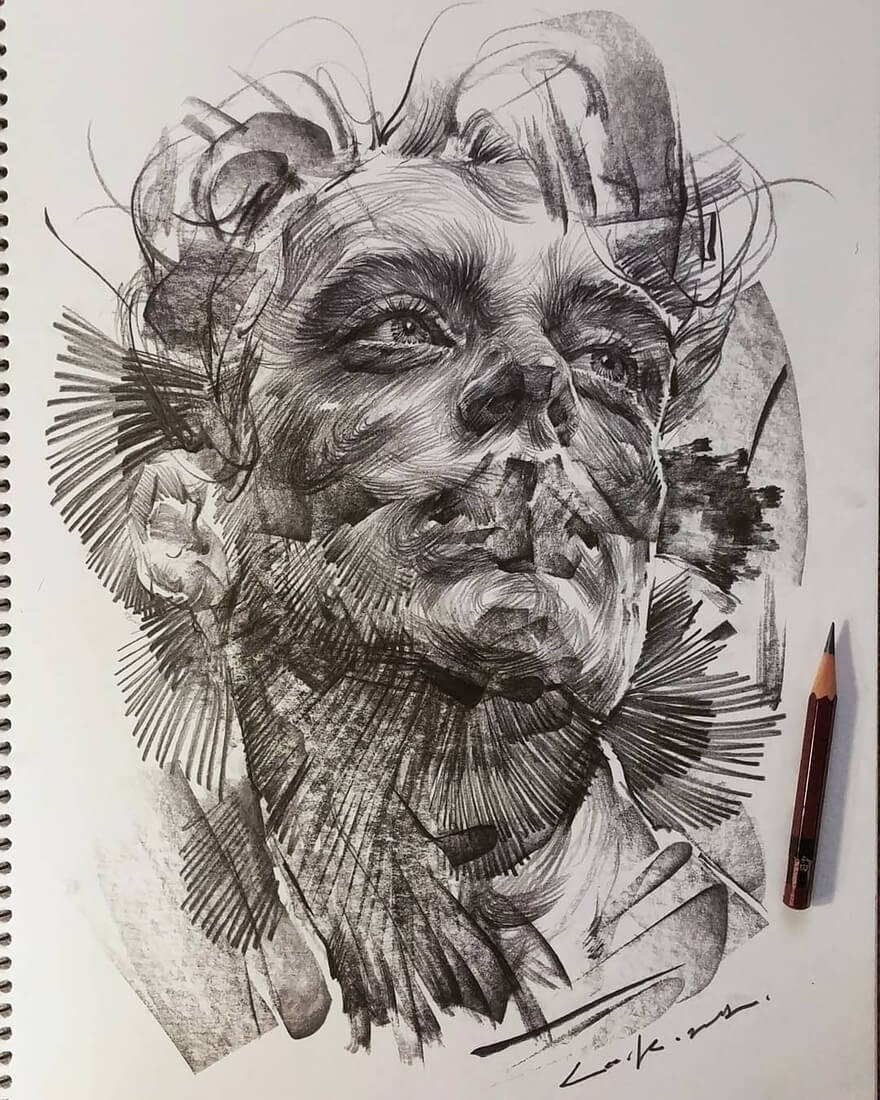 01-Lee-K-Lines-and-Swirls-Pencil-and-Charcoal-Portraits-www-designstack-co