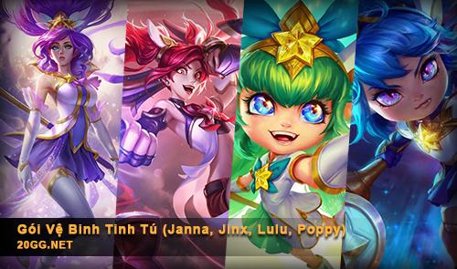Cập nhật bổ sung 4 skin vào Gói Vệ Binh Tinh Tú - Star Guardian (Janna, Jinx, Lulu và Poppy) thumbnail
