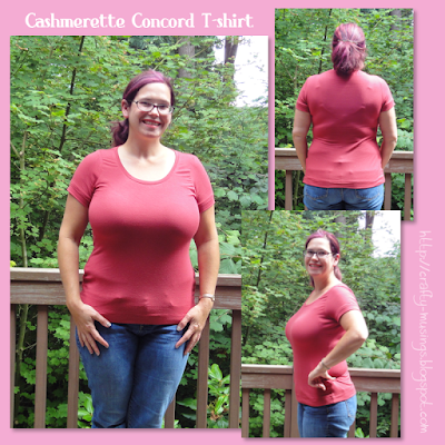 Cashmerette Concord T-shirt collage