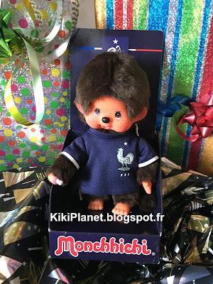 Monchhichi FFF Équipe de France  référence 202484 kiki toys vintage