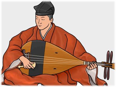 楽琵琶 雅楽で使われる琵琶