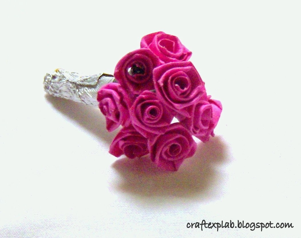 Craft lab paper quilled rose bouquet paper quilled rose bouquet mightylinksfo