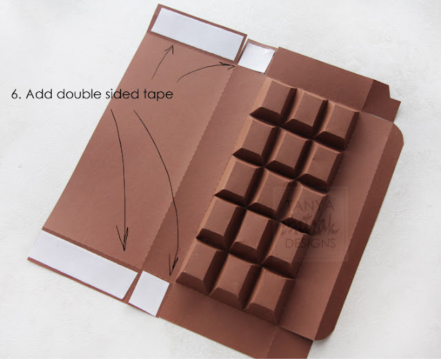 paper chocolade bar box