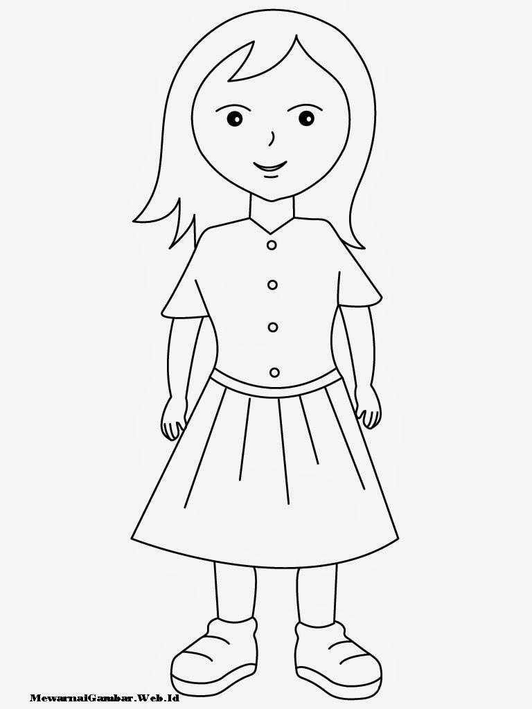 Gambar Mewarnai Anak Perempuan Gambar Mewarnai